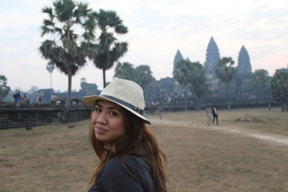 Waited for sunrise in Angkor Wat in Cambodia